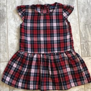 Sweet & Soft Red Plaid Dress (2T)